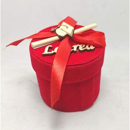 Set 12 bomboniere portaconfetti tondo x laurea (siiacl124-12)