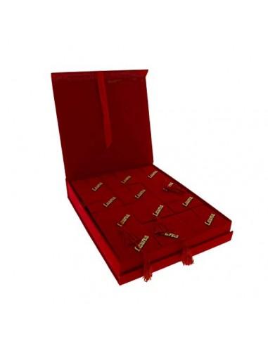 BombonierEventiLieti Laurea Box 12 TOCCHI Red CM23X30 1/12