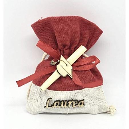 24X Sacchetto Portaconfetti scritta LAUREA tocco e pergamena BOMBONIERA