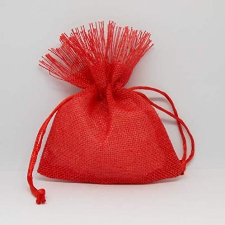 Formoso Bomboniera Sacchetto in Tessuto Rosso Laurea Decorazione 12 pz Art C1893
