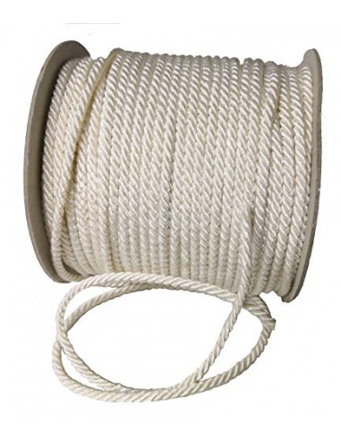 Nastro corda cordino 5 mm x 50 metri 3 capi Cordoncino (AVORIO)