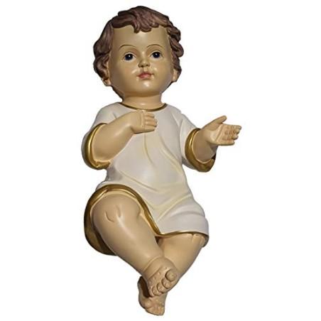 GESU' Bambino PRESEPE LUNGH. 40 CM Statua BAMBINELLO Vestito Natale