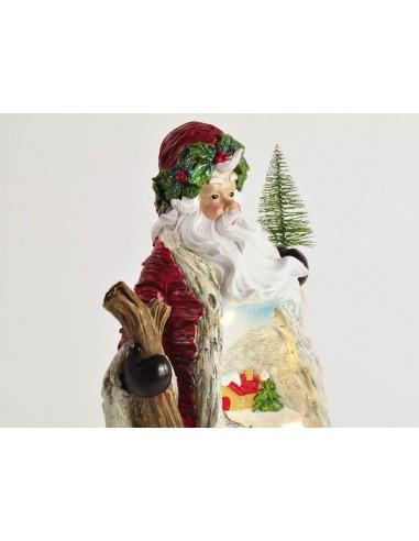 Babbo Natale Musicale.Babbo Natale Paesaggio Musicale E Luci 14 5x11 5xh26 Cm