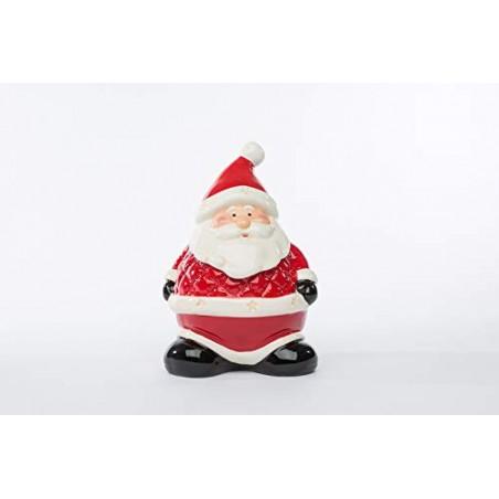 LE STELLE Barattolo Babbo Natale Ceramica 13,5x12xh.19 CM