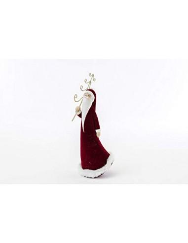 Babbo Natale Resina Velluto Rosso 11x10xh.29 CM