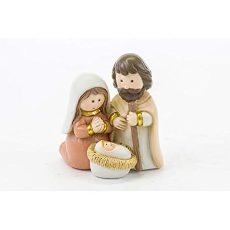 LE STELLE Mini Sacra Famiglia Resina 6x4,5xh.7CM