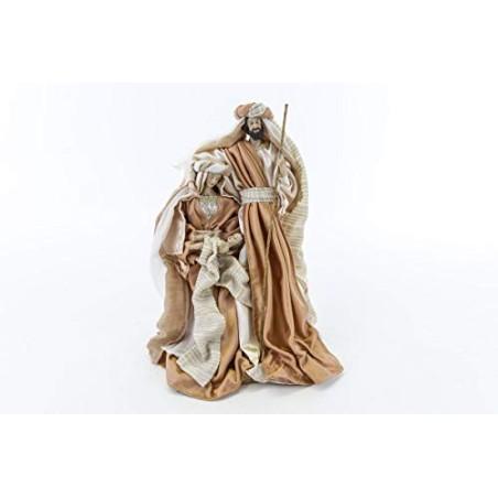Sacra Famiglia Resina VESTITA h.30 CM