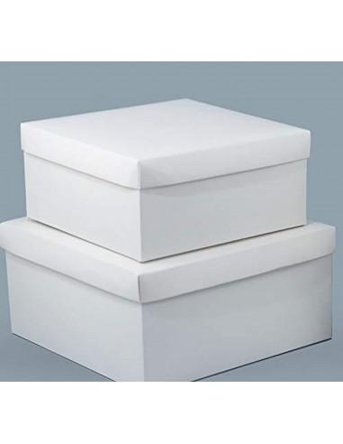 20 PZ Scatola per Bomboniera Comunione Fondo coperchio 10x10x10 cm box18
