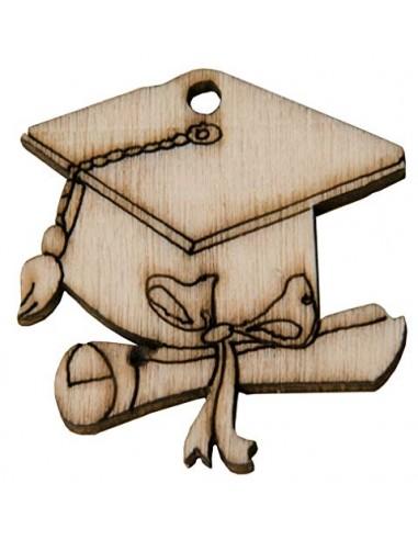 Subito disponibile 12 PEZZI Tocco Laurea in legno decorazione bomboniera