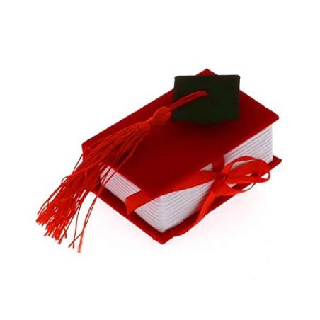Publilancio srl 12 PZ Libro Rosso Laurea portaconfetti con Tocco BOMBONIERA