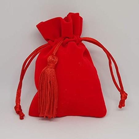Formoso Bomboniera Sacchetto in Velluto Rosso Laurea Decorazione 12 pz Art C1897