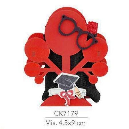 PIANETA CONFETTI Confezione 20 Pezzi, Bomboniera Laurea Scatola portaconfetti, segnaposto cm 4x9(ck7179)