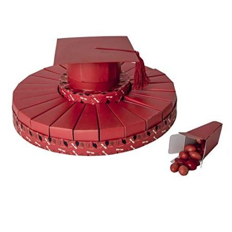 Publilancio srl Torta Laurea Tocco Rosso 37x17 cm con 24 scatoline portaconfetti
