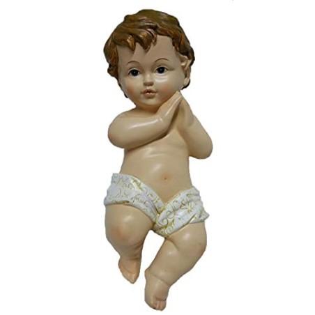 BAMBINO GESU' 19 cm IN RESINA PRESEPE NATALE ADDOBBI BABY JESUS Jesùs