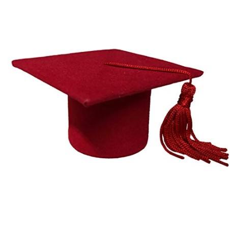 PuntoCasaStore 24 Scatole Cappello Laurea Rosso Bomboniera Porta Confetti Party Tocco