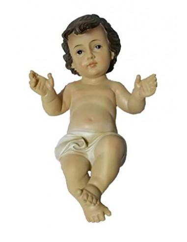 PUNTO CASA GESU' Bambino PRESEPE LUNGH. 20 CM Statua BAMBINELLO LARGH. 11,5 CM