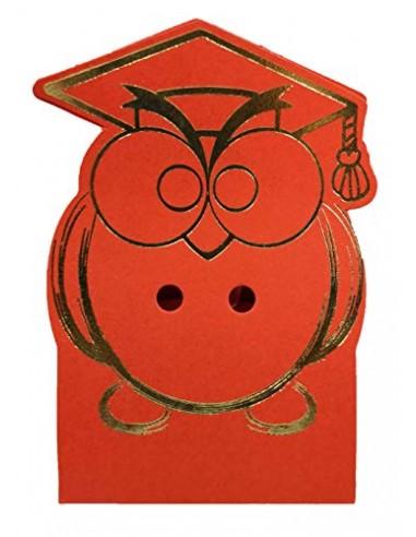 STOCK 20 PEZZI Scatola Scatolina in cartone gufo portaconfetti decorazioni escluse BOMONIERA LAUREA