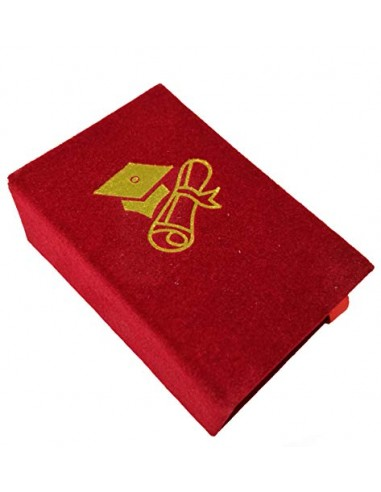 STOCK 12 PEZZI Scatolina Libro Laurea rosso portaconfetti porta confetti