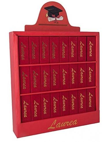 Libreria 24 scatoline portaconfetti LAUREA bomboniera