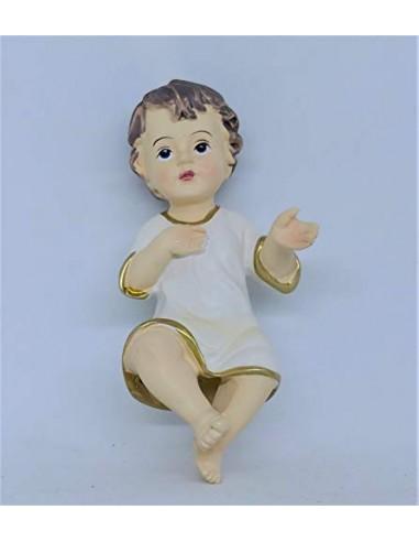 PuntoCasaStore GESU' Bambino PRESEPE 10 cm Statua Baby Jesus ADDOBBI Natale bambinello 25418
