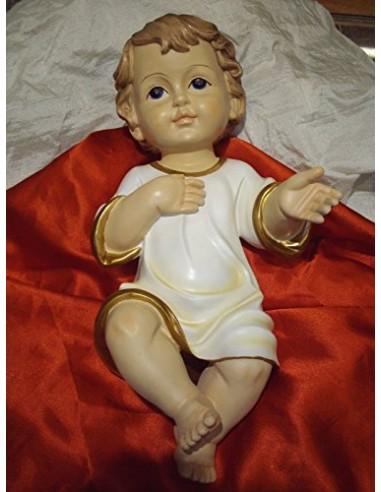L'ANGOLO BARLETTA Bambino GESU' Favoloso 19,5 cm PRESEPE Natale Baby Jesus ADDOBBI Natalizio bambinello